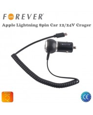 Forever Car 12/24V Car Charger (Apple Lightning 8pin) iPhone 5 5S 5C 6 6S Plus 1.5m Flat Cable