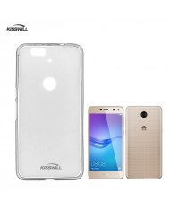 Kisswill Frosted Ultra Thin 0.6mm Back cover case Huawei Y6 (2017) Transparent