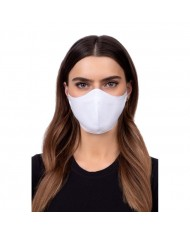 TakeMe Profiled 1-layer Washable and Reusable Face mask with soft straps and pocket for extra layer White