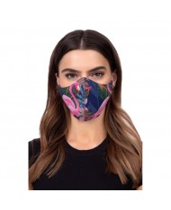 TakeMe Profiled 1-layer Washable and Reusable Face mask with soft straps and pocket for extra layer Flamingo