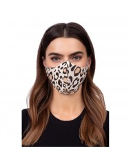 TakeMe Profiled 1-layer Washable and Reusable Face mask with soft straps and pocket for extra layer Panther
