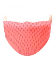 TakeMe Antibacterial 2-Layer Washable Slim Fit Face Mask with silver iOns Pink