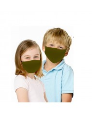 TakeMe Kids (6+) Antibacterial 2-Layer Washable Face Mask with silver iOns Khaki