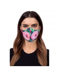 TakeMe Profiled 1-layer Washable and Reusable Face mask with soft straps and pocket for extra layer Lotos