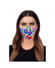 TakeMe Profiled 1-layer Washable and Reusable Face mask with soft straps and pocket for extra layer Flowers