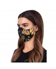 TakeMe Profiled 1-layer Washable and Reusable Face mask with soft straps and pocket for extra layer Golden Jungle