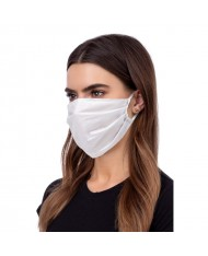 TakeMe Oeko-Tex Certified Easy Breath Cotton Reusable Summer mask with soft straps White