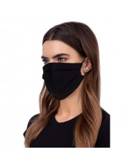 TakeMe Oeko-Tex Certified Easy Breath Cotton Reusable Summer mask with soft straps Black