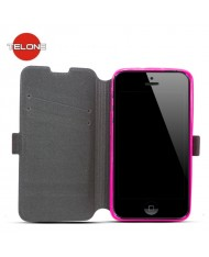 Telone Super Slim Shine Book Case with stand Sony D2303 Xperia M2 Pink